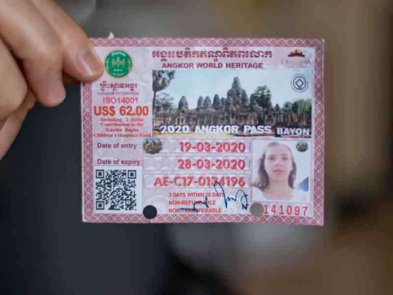 Angkor Wat Ticket for 19-03-2020