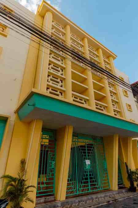 Hotel Old Cinema Storefront in Kampot, Cambodia