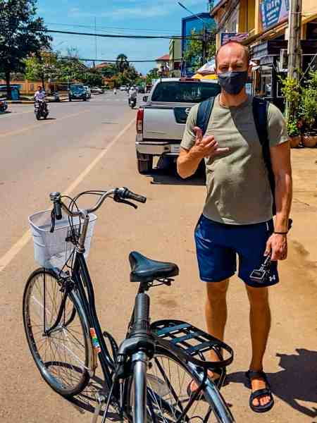 Nate Renting a Bike from Tree Travel Tours Motorcycle and Bicycle Rentals