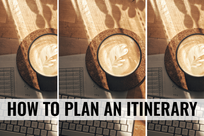 how to plan an itinerary