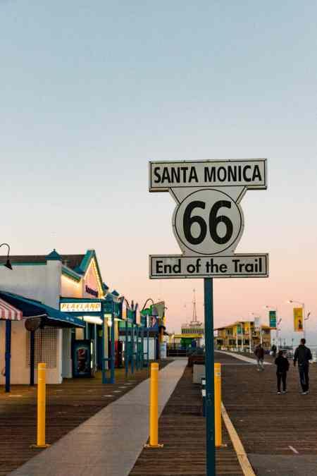 route 66 california sign
