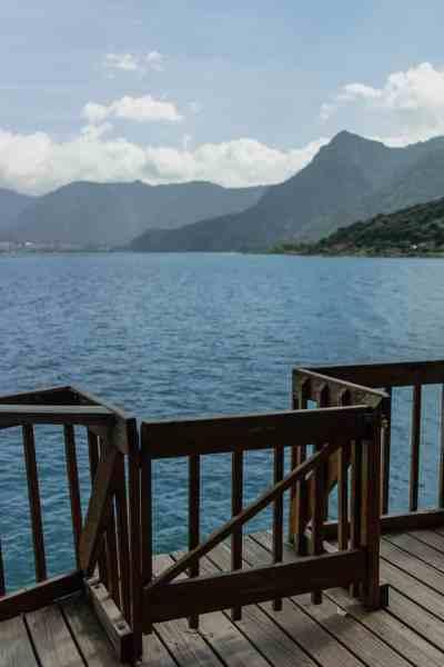 swimming in lake atitlan