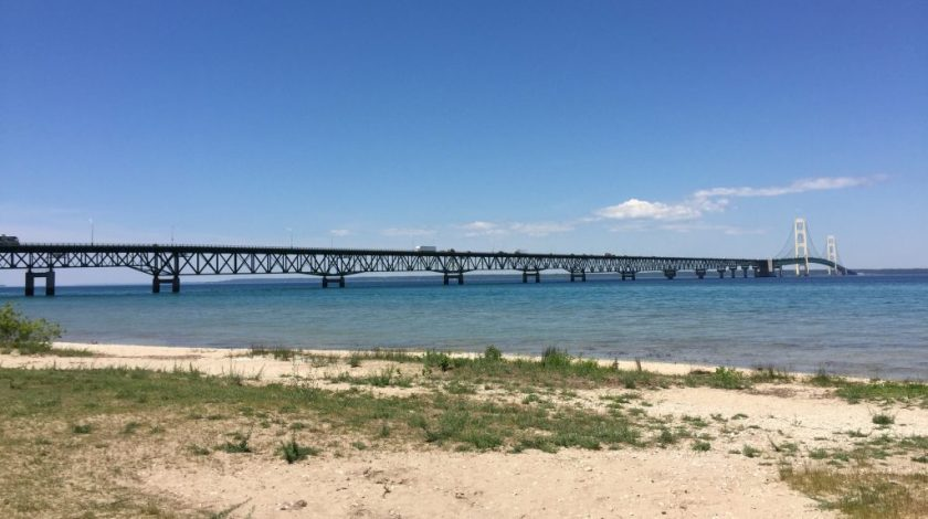 mackinac bridge, mackinaw city, st ignace, pasty trail
