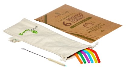 colourful smoothie straws in bag