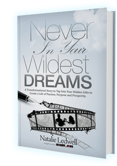 mock-up of hardcover book by natalie ledwell of mind movies