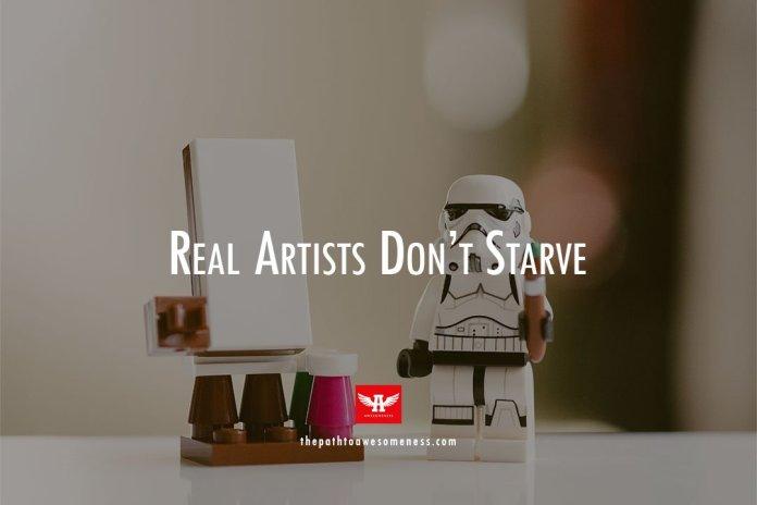 mini logo storm trooper holding artbrush
