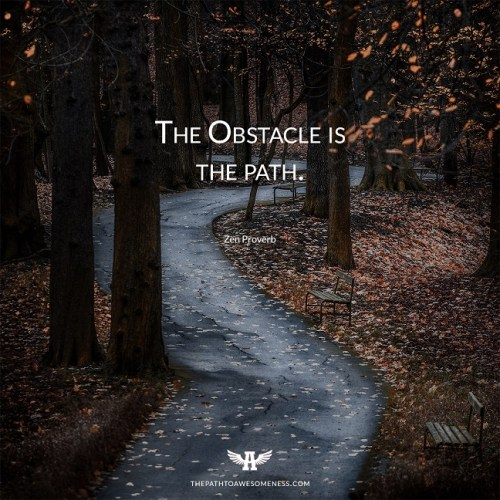 the obstacle is the path