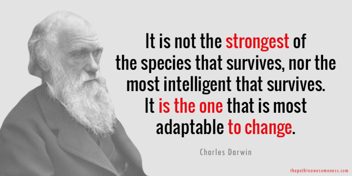 charles darwin adaptable to change quote