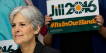 WASHINGTON, DC - JUNE 23: Jill Stein waits to speak before announcing that she will seek the Green Party's presidential nomination, at the National Press Club, June 23, 2015 in Washington, DC. Stein also ran for president in 2012 on the Green Party ticket. (Drew Angerer/Getty Images)