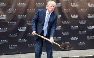 WASHINGTON, DC - JULY 23: Donald Trump attends the Trump International Hotel Washington, D.C Groundbreaking Ceremony at Old Post Office on July 23, 2014 in Washington, DC. (Photo by Kris Connor/Getty Images)