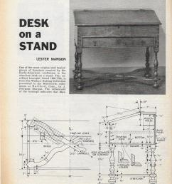 workbench magazine july august 1966 desk on a stand [ 1200 x 1613 Pixel ]