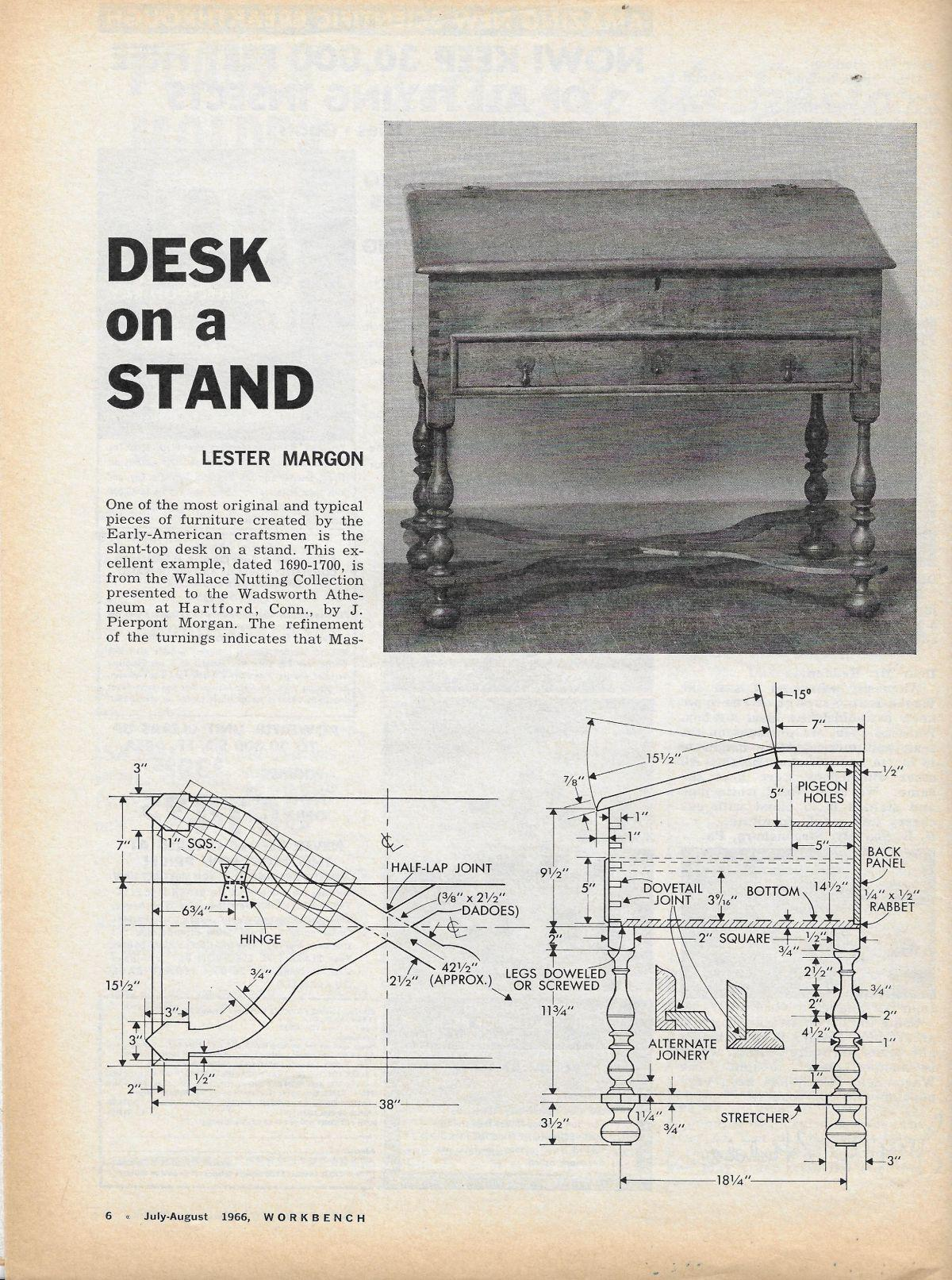 hight resolution of workbench magazine july august 1966 desk on a stand