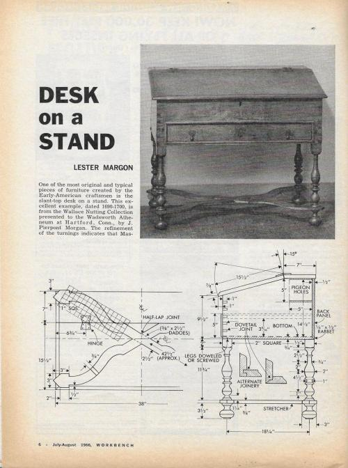 small resolution of workbench magazine july august 1966 desk on a stand