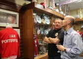 PD chatting to SAFC Museum ownder Michael Ganley