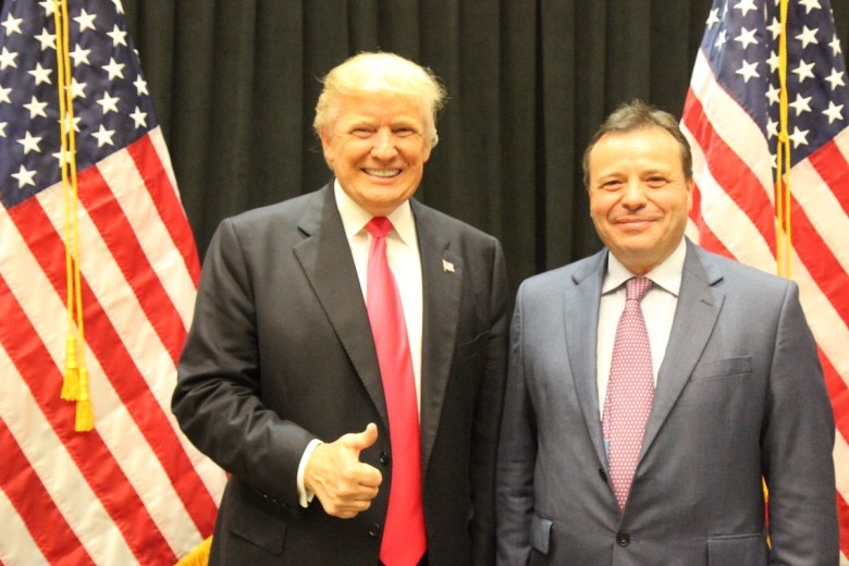 President Donald Trump and Arron Banks