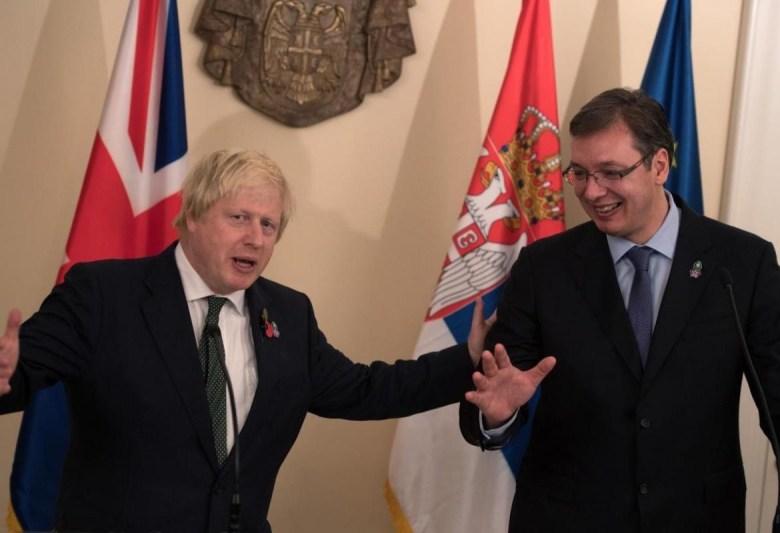 PM Boris Johnson and President Vucic
