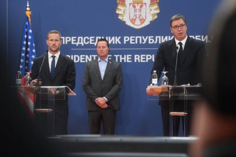 Adam Boehler, Richard Grenell, President Vucic