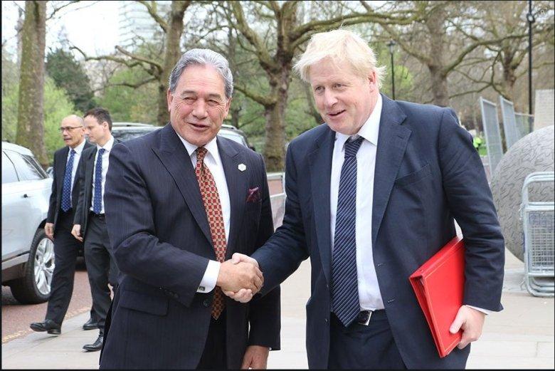 Winston Peters and Boris Johnson