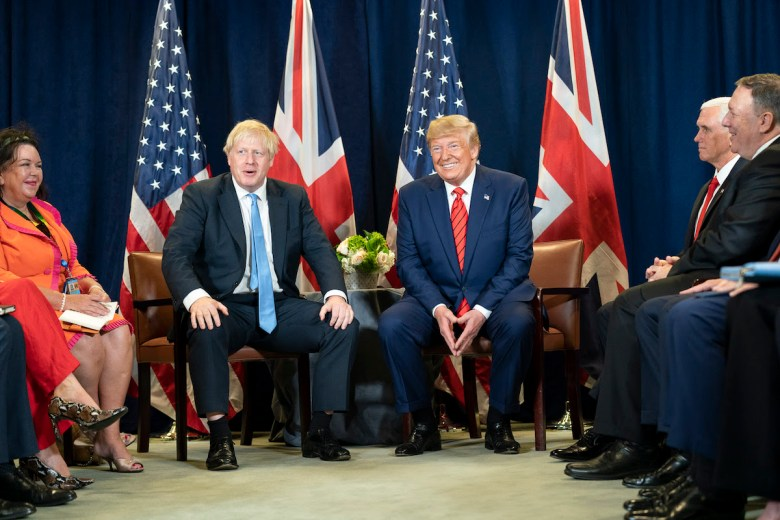 President Donald J. Trump participates in a bilateral meeting with British Prime Minister Boris Johnson Tuesday, Sept. 24, 2019, at the United Nations Headquarters in New York.  (Official White House Photo by Shealah Craighead)