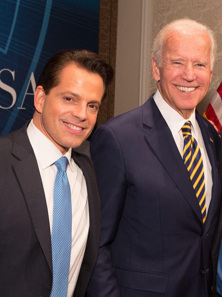 Anthony Scaramucci and Joe Biden