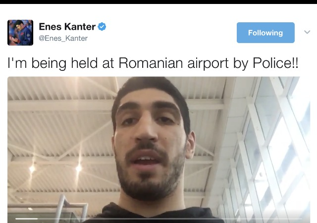 Enes Kanter detained in Romania