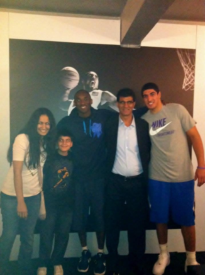 Enes Kanter with late Kobe Bryant (Photo: courtesy of Enes Kanter)