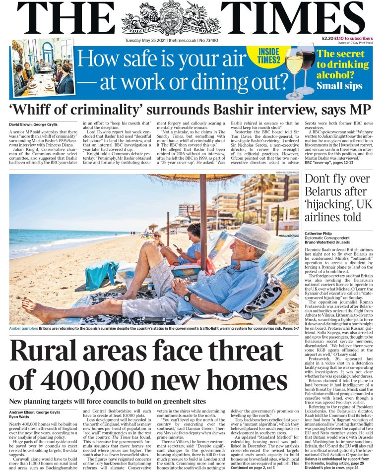 The Times on Tuesday