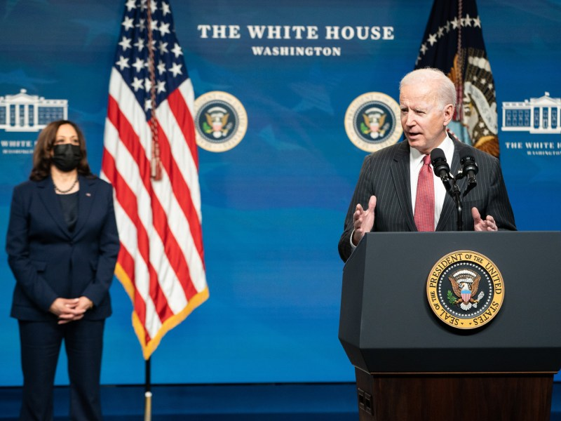 The Biden administration has announced a Coal Communities Commitment -President Joe Biden, joined by Vice President Kamala Harris (Photo by Adam Schultz)
