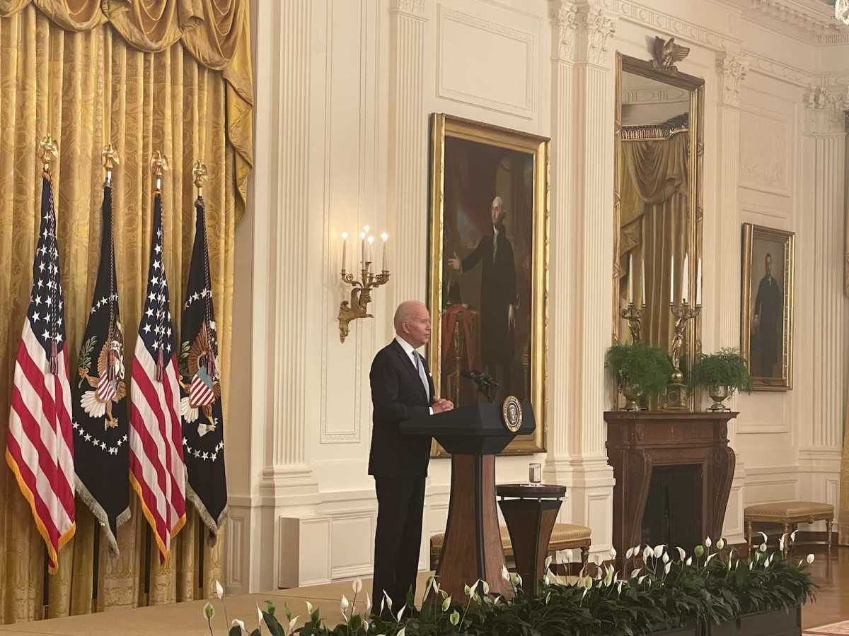 President Biden delivers remarks to Americans encouraging them to get vaccinated ( Photo credit: Meghan Hays )