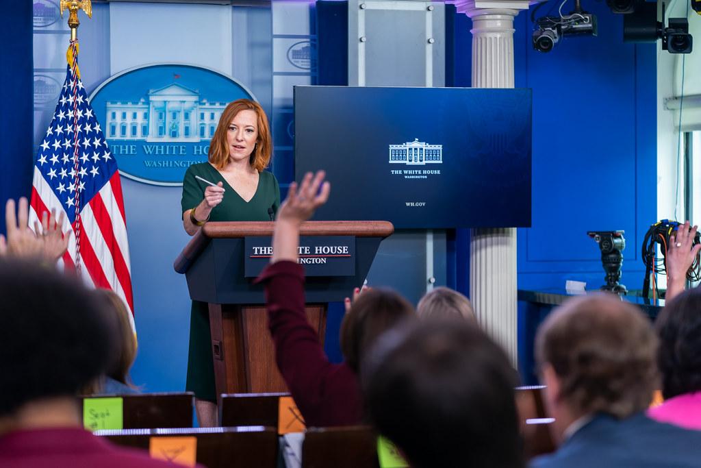 Press Secretary Jen Psaki ( Photo by Cameron Smith)