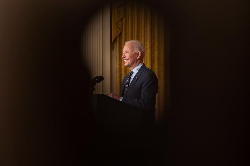 President Joe Biden ( Photo by Cameron Smith )