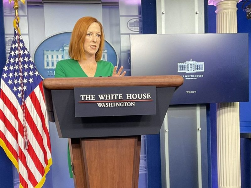 Jen Psaki Briefs Americans On Jobs, Afghanistan, And Vaccine Requirements