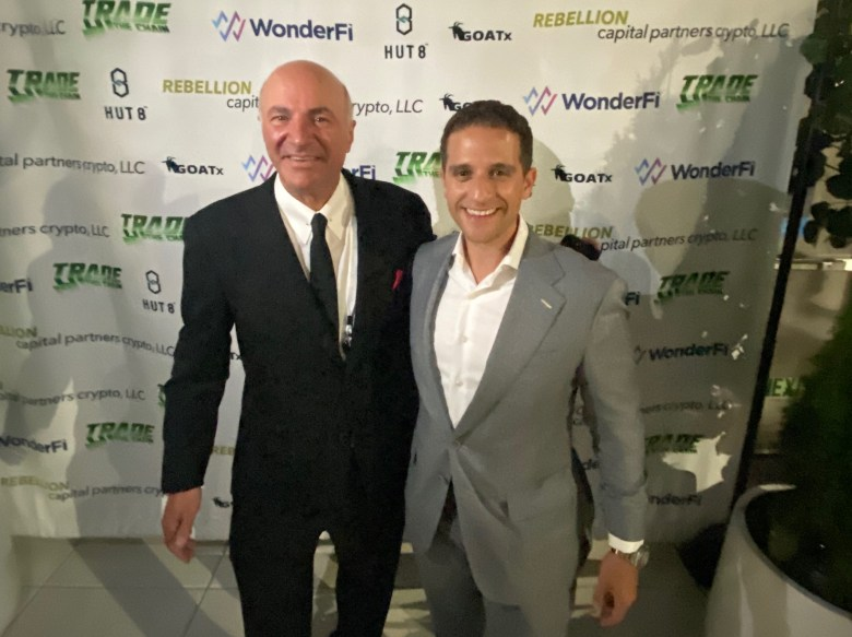 Entrepreneur Jordan Fried of Immutable Holdings and Kevin O'Leary in New York City