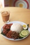 teh tarik and nasi lemak