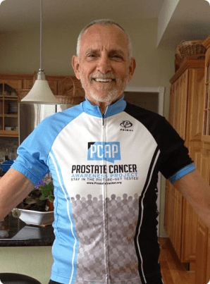 Robert Warren Hess with new prostate cancer jersey