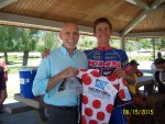 PCAP Founder Robert Warren Hess presents KOM jersey at Mt. Baldy time trial
