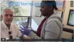 PCAP Founder Robert Warren Hess taking a PSA blood test