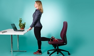 How do do squats in the office
