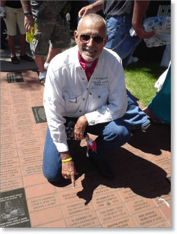 Robert Hess with Prostate Cancer Memorial Brick.