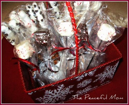 Gift Idea DIY Peppermint Hot Cocoa Stirrers  The Peaceful Mom