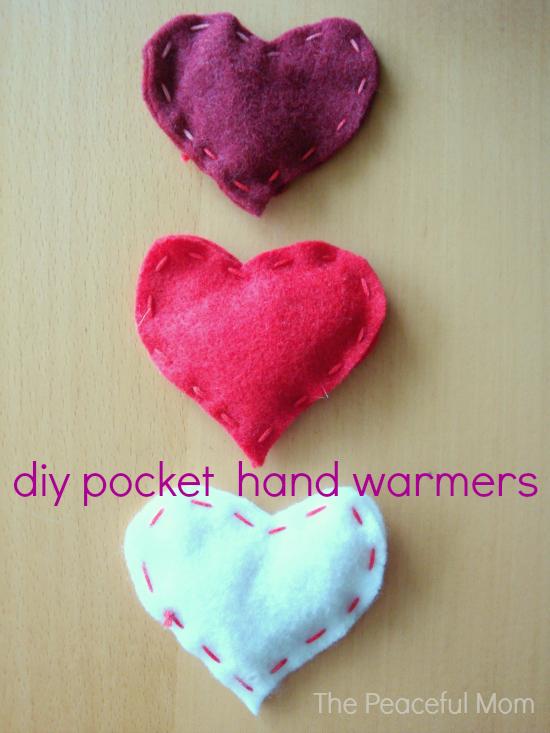 Valentine Craft DIY Pocket Hand Warmers The Peaceful Mom