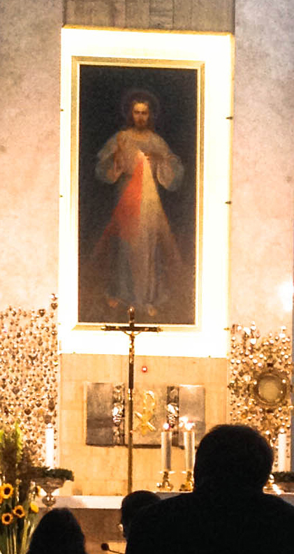 Photo 3. The original 'Image of The Divine Mercy' held within its own shrine