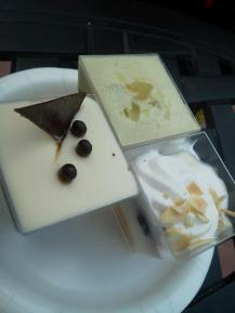 Chocolate, Berry, & Green Tea Trifle Trio