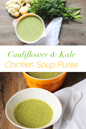 Love making homemade baby food for your baby? Try this iron packed soup for your little one. This Cauliflower and Kale Chicken soup has many more vitamins and minerals. Not only is it nutritious for your baby, it's also delicious. Your baby is sure to love it!