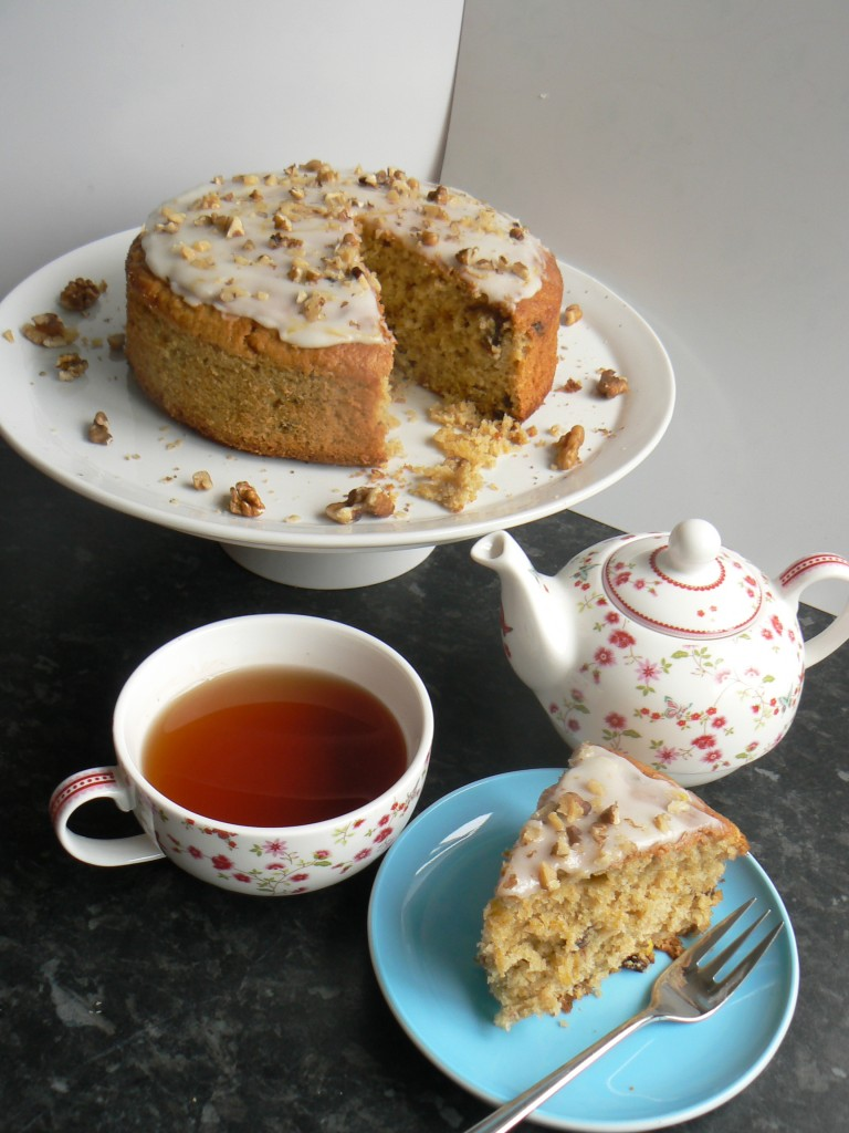 Organic Carrot And Apple Cake made for Organic Your September in association with Wayfair UK. Light Fluffy carrot & Apple sponge with a dairyfree creamcheese frosting.