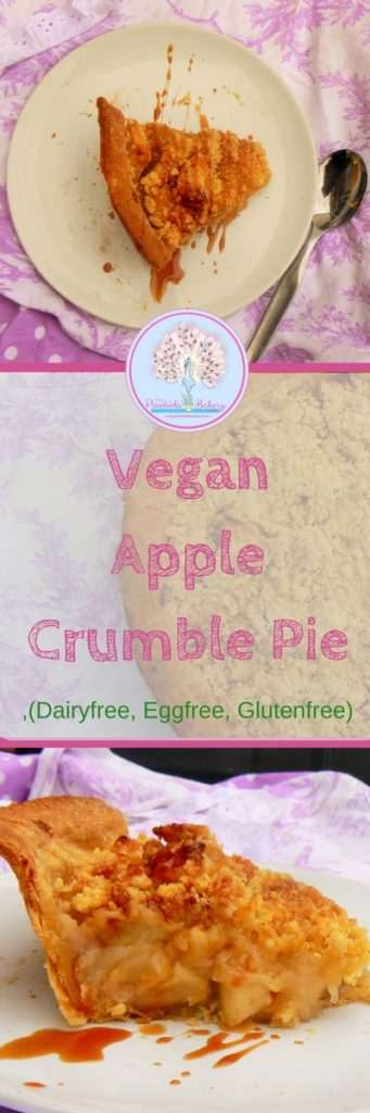 Cant decide between pie or crumble for dessert? Why not have both! This Vegan Apple Crumble Pie with its beautiful flaky Dairyfree pastry is the best of both & packed full of beautiful apple chunks!