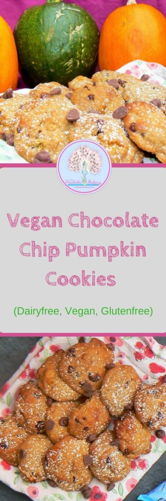 Halloween is upon us & with it comes Pumpkin Carving and the inevitable mountain of leftover flesh. Don't just throw away these yummy left overs make my Vegan Chocolate Chip Pumpkin Cookies with Moo Free Baking Drops instead! Great for trick or treaters and even better with a quiet cuppa!