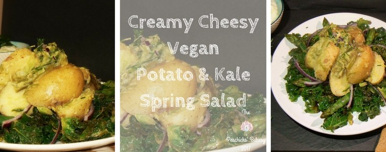 Creamy Cheesy Vegan Potato & Kale Spring Salad with Tesco.