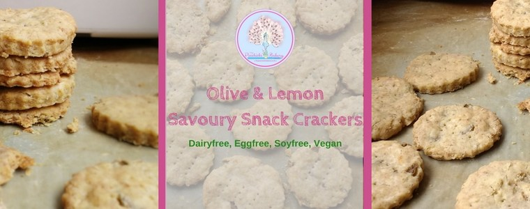 Perfect for Picnics: Olive & Lemon Savoury Snack Crackers (Dairyfree, Eggfree & Vegan)