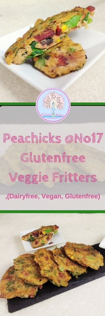 My #Glutenfree Veggie Fritters are easy to prepare with just 3 ingredients: Veggies, Water & Flour! A speedy midweek meal, #vegan starter or allotment lunch! Made with a #Dairyfree, #Eggfree, #Soyfree Batter